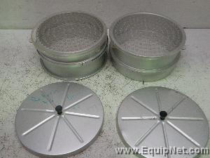 Lot of 2 Small Animal Metabolism Feeder Cages with Plastic Sieves 9 Inch Diameter