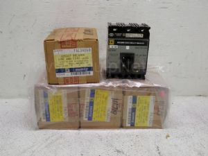 Lot of 5 Square D 480-VAC 3-Pole 60-Amp Molded Case Circuit Breakers