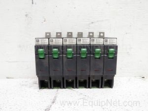 Lot of 6 Cutler-Hammer GHBS1020D 277-VAC 1-Pole 20-Amp Molded Case Circuit Breakers