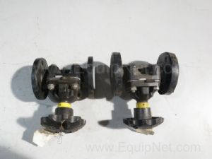 Lot of 2 Saunders Diaphragm Valves