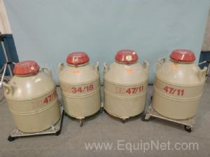 Lot of 4 MVE Cryogenic Tanks