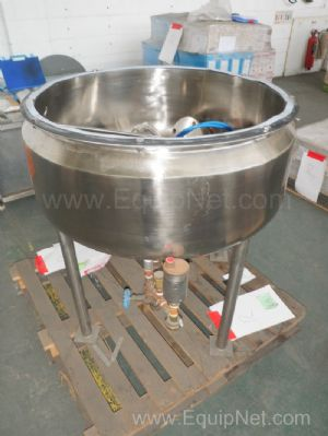 Pharma Procip Unused 150 Litre Stainless steel steam jacketed Mixing Tank