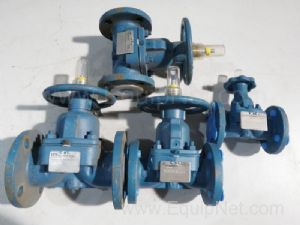 Lot of 4 ITT Ind Diaphragm Valves