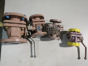 Lot of 4 assorted Ball Valves