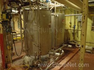 Lot of 2 Clean in Place 300 Gallon Tanks