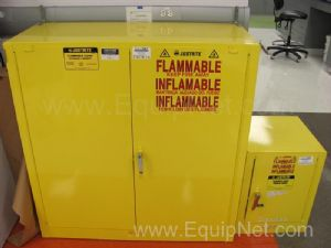 Lot of (2) Justrite Flammable Storage Cabinets