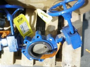 Lot of 2 Keystone 064703AR2000 Four Inch Butterfly Valves