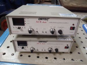 1 Lot of 2 Ortec AceMate 925 Scint Amplifier and Bias Supplies