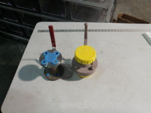 Lot of 2 Lined Ball Valves