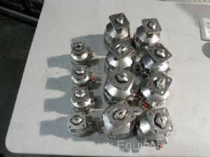 Lot of 12 Saunders Piston Actuators
