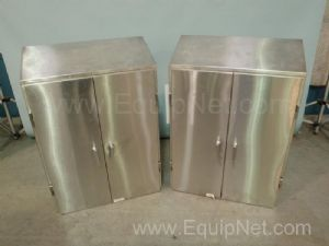 Lot of (2) 36 Inch Wide Stainless Steel Wall Hanging Cabinets
