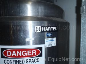 Hartel Stainless Steel  Jacketed Tank