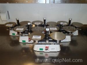 6 OHAUS 1400 Series Triple Beam Balance