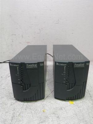 Lot of 2 Liebart PS700MT120 Powersure Interactive 700 Uninterruptable Power Supply