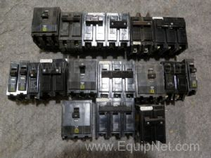 Lot of 18 Assorted Circuit Breakers
