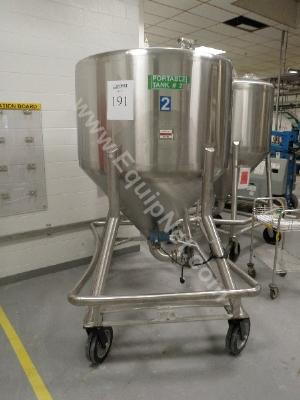 Man Repp 500 Gallon Stainless Steel Portable Tank