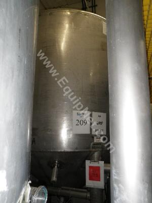 1700 Gallon Stainless Steel Storage Tank