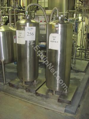 Lot of 2 Stainless Steel Vertical Tanks