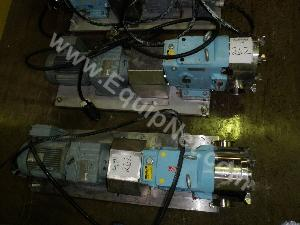 Lot of 3 Waukesha Model 130 5 HP Stainless Steel Pumps