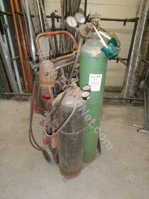 2 Tank Welding Cart with Torch and (2 Screens