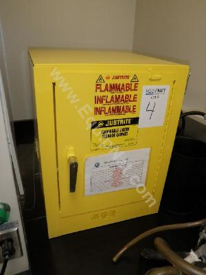 Lot of 3 Justrite Model 25042 Flammable Storage Cabinet