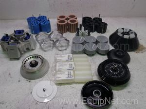Lot of 40 Assorted Centrifuge Rotors & Accessories
