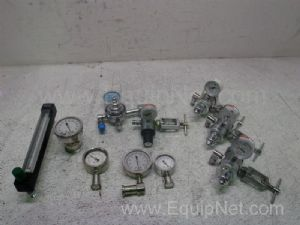Lot of 9 Assorted Pressure Gauges