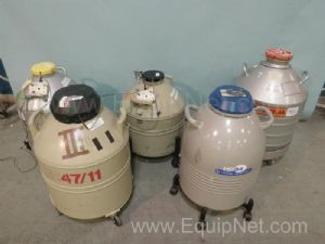 Lot of 5 Assorted Cryogenic Storage Containers