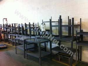 Large Lot of Steel Tables