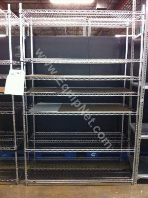 Lot of (3) Stainless Steel Wire Shelves