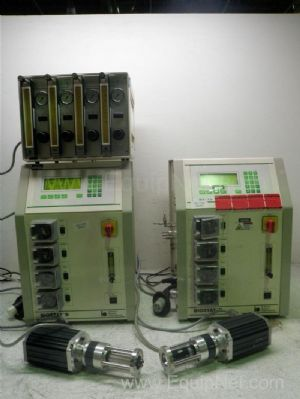Lot of 2 B Braun Biostat B Fermentor With Gas Mix Console