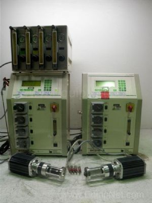 Lot of 2 B Braun Biostat B Fermenators With Gas Mixer Console