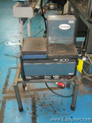 Nordson Gluer, Series 3100, complete with trace heated gluing head, and link tubing, 1999.