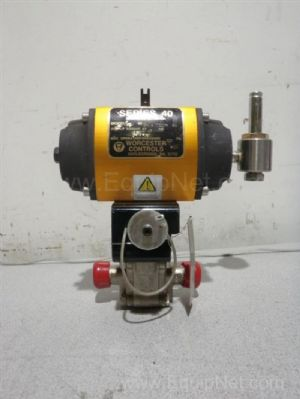 Flowserve 0.75 Inch Pneumatic Actuated Ball Valve