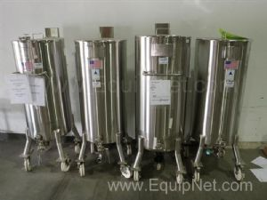 Lot of (4)Precision Stainless 200L Atmospheric Vessels, 316L Stainless Steel, Mirror Finished Interi