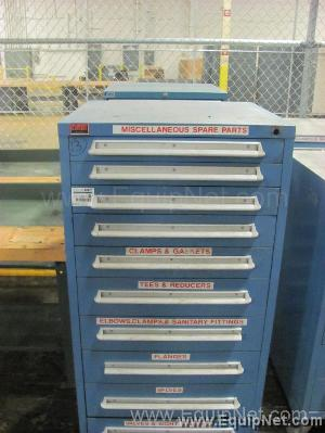 Lot of (2) Lyon Parts Cabinets