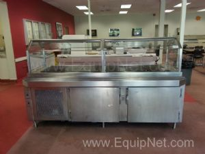 Stainless Steel Reach In Serving Refrigerator Station