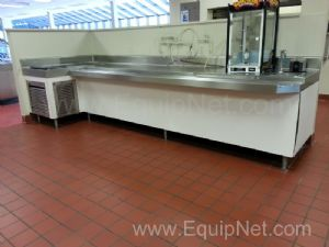 Lot of (2) Stainless Steel Custom Serving Stations