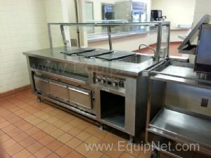 Stainless Steel Custom Heated Serving Station With Faucet