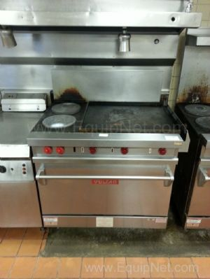 Vulcan Stainless Steel Six Burner Stove Topped Oven
