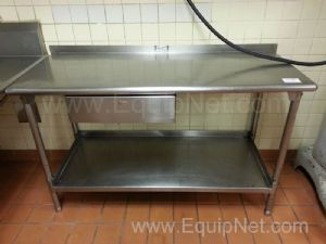 Lot of (2) Stainless Steel Tables