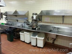 Stainless Steel Washing Station With Stainless Steel Shelves