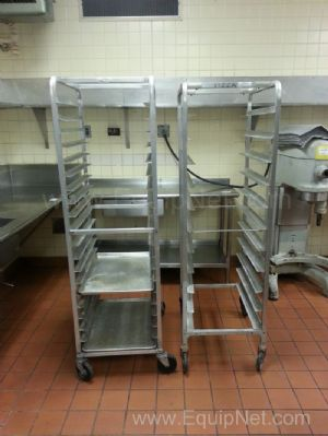 Lot of (3) Assorted Size Stainless Steel Tray Carts