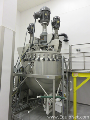 Greerco 2000L Jacketed Kettle with High Shear Homogenizer and Double Motion Counter Rotating Paddles