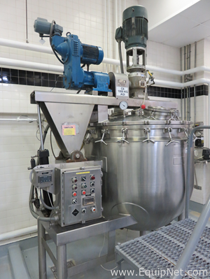 Greerco 1000L Stainless Steel Kettle with High Shear Homogenizer and Side Scrape Agitation - C6