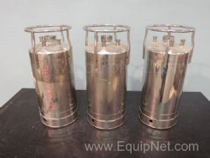 Lot of 3 Alloy Products Corp Stainless Steel Tanks