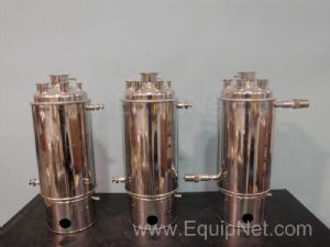 Lot of 3 Alloy Products Corp Jacketed Stainless Steel Tanks