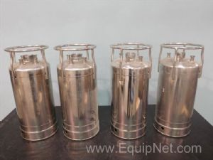 Lot of 4 Alloy Products Corp Stainless Steel Tanks