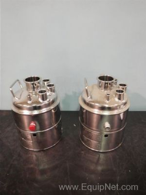 Lot of 2 Alloy Products Corp Jacketed Stainless Steel Tanks