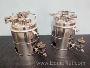 Lot of 2 Alloy Products Corp Stainless Steel Jacketed Tanks